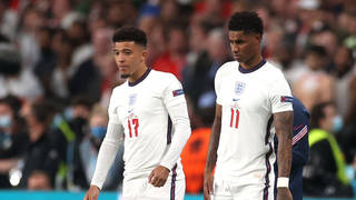 Jadon Sancho and Marcus Rashford were among the England players racially abused by Bradford Pretty