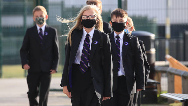 Children are being asked to wear face masks to school again.