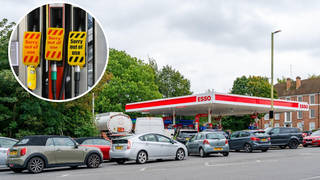 Filling stations in London and the South-East are running dry more quickly.