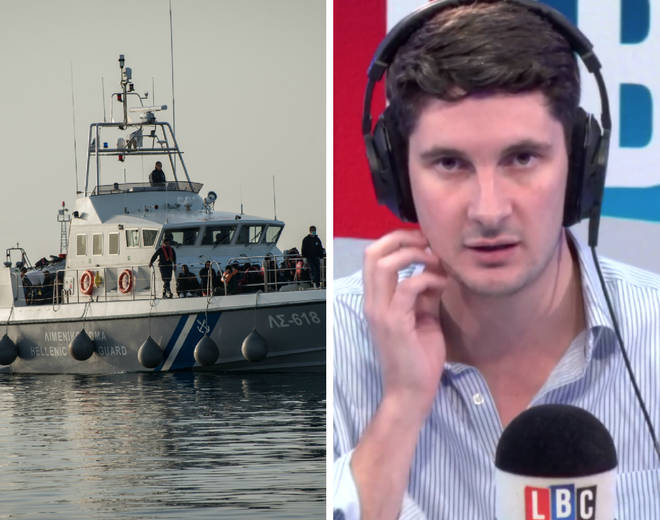 Two callers went head-to-head following a spike in migrants crossing the Channel in boats