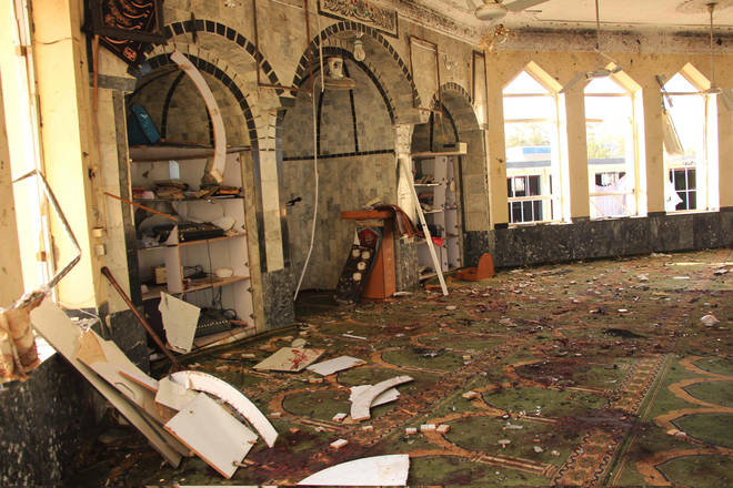 The blast occurred in a Shiite mosque in Kunduz province.