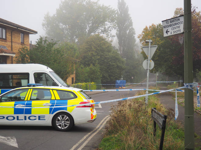 Police have cordoned off Bayswater Road in Barton