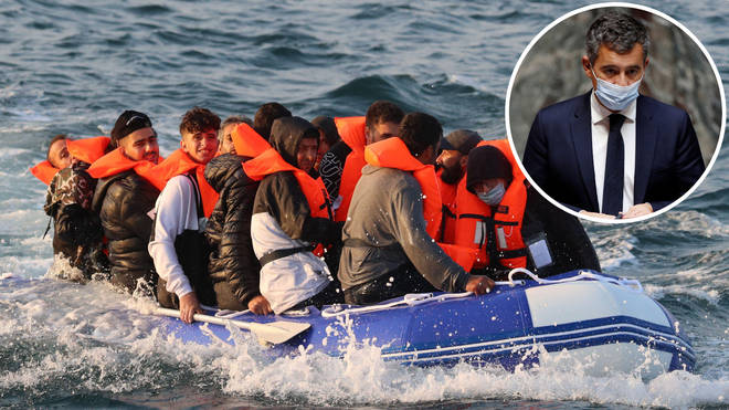 """Gerald Darmanin said """"not one euro has been paid"""" of the £54m the UK promised to France to help prevent migrant crossings"""
