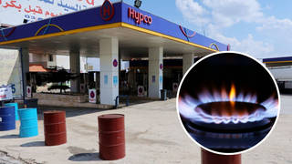 Fuel stations and power plants in Lebanon have been forced to close.