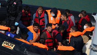 More than 1,100 migrants crossed the channel on Friday and Saturday.