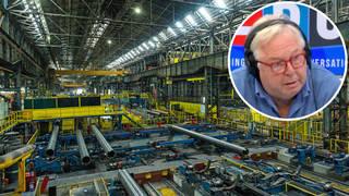 The steel industry chief was speaking to LBC's Nick Ferrari