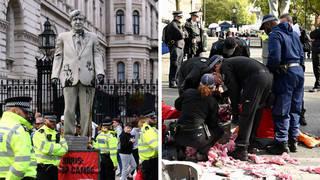 Greenpeace activists at Downing Street, London.