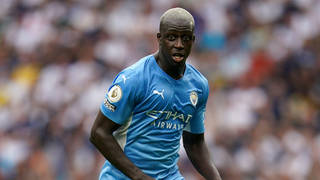 Benjamin Mendy pictured playing for Manchester City in August