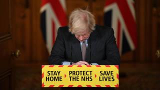 Boris Johnson speaks at a Downing Street coronavirus press conference