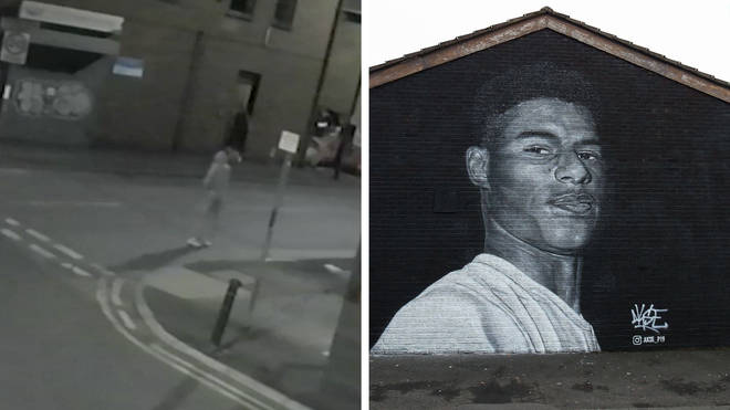 The Rashford memorial was defaced in the wake of England's Euro 2020 final defeat