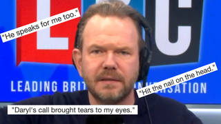 LBC listeners just had to react to Daryl's call