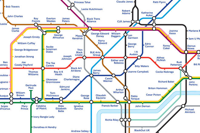 Transport for London has redesigned the Tube map to commemorate Black History Month