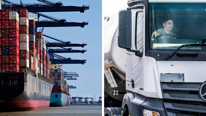 Ships are being diverted away from Felixstowe because of a build-up of cargo as a result of the HGV driver shortage which has seen the army step in to drive fuel lorries