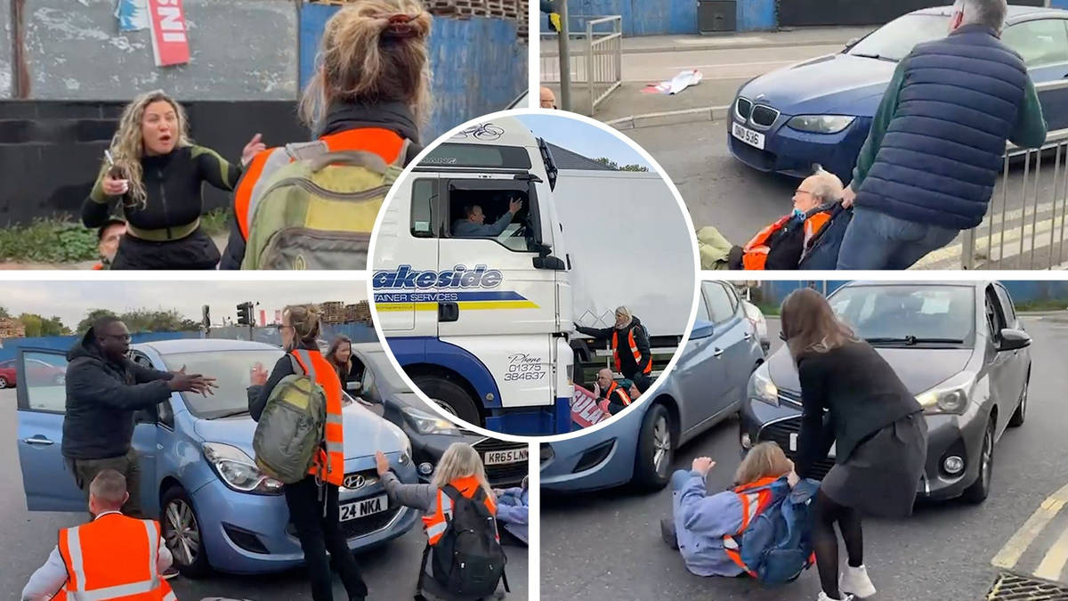 Eco mob blocks road near Dartford Crossing as activists clash with furious drivers