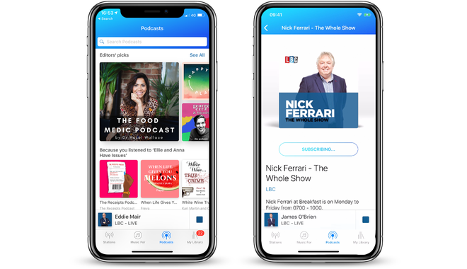 Get Podcasts right on your LBC iPhone app