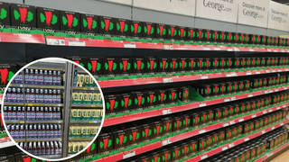 Supermarkets have been accused of trying to cover up shortages on shelves