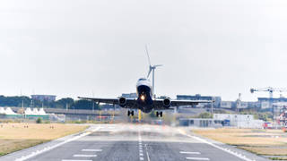 A British Airways plane takes off as the resumption of UK – US flights was confirmed