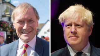 """Boris Johnson has spoken of his """"shock"""" and """"sadness"""" after Tory MP Sir David Amess was stabbed to death"""