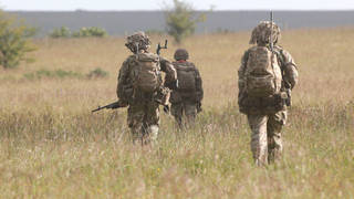 The soldier died during a military exercise