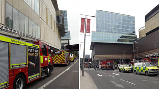 The fire broke out in Westfield Shopping Centre