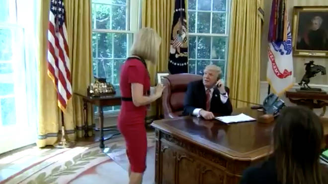 President Trump flirts with Irish reporter