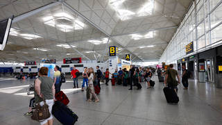 People have missed their flights because of the issues at Stansted.