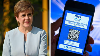 Nicola Sturgeon has come under fire over the country's Covid passport mandate.