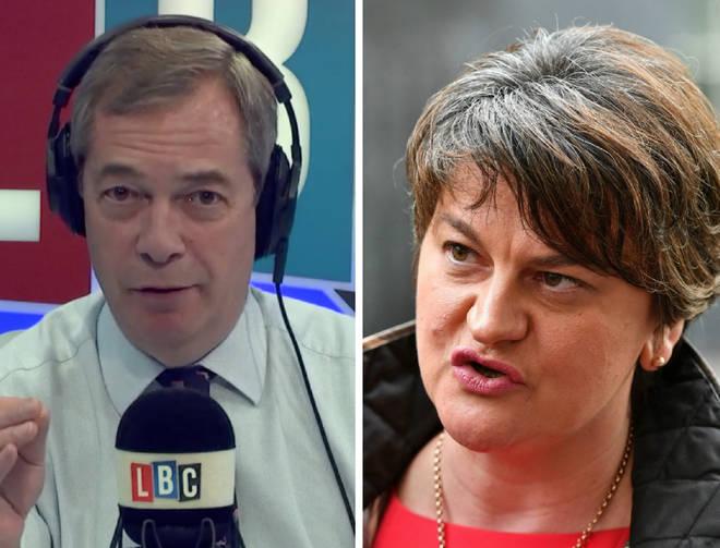 Nigel Farage Arlene Foster