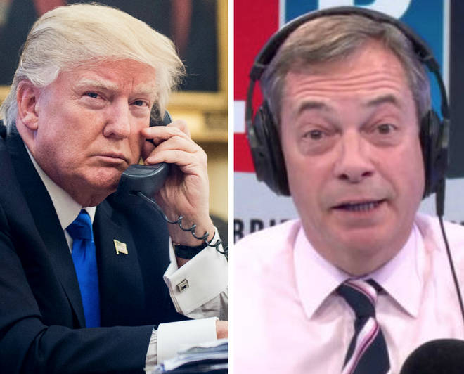 Nigel Farage says he spoke to Donald Trump on the phone two weeks ago