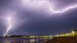 A warning of thunderstorms has been issued by the Met Office