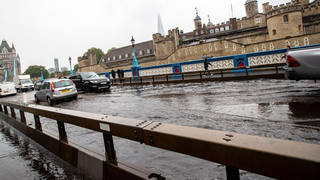 The Met Office issued an amber rain warning