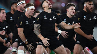 The haka is famously performed by the All Blacks rugby union team