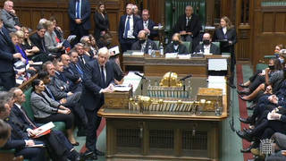 Like many MPs, Boris Johnson does not wear a mask in the House of Commons