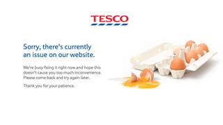The issue is effecting both Tesco's website and app.