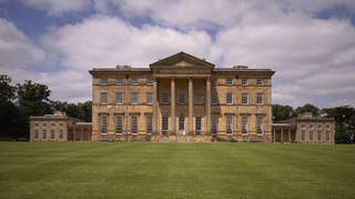 """Staff at Attingham Park have come under fire from Restore Trust for creating a """"party"""" theme in the dining room."""