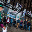 Climate protesters who will demonstrate in Glasgow gather in Rotterdam before heading to Scotland