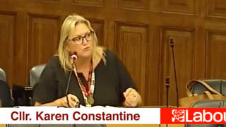 Labour councillor Karen Constantine posted a clip of the comment on social media