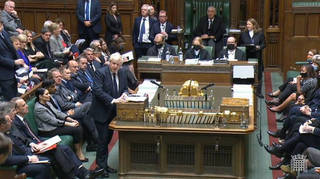 Boris Johnson has not been wearing a face covering in the House of Commons.