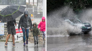 The Met Office has issued an amber warning for rain in the north west of England.