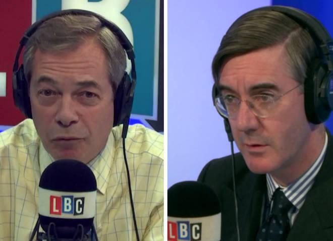 Nigel Farage Jacob Rees-Mogg