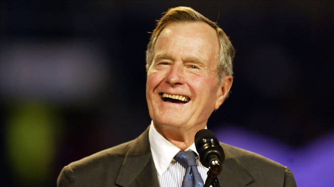 The 41st President of the United States George HW Bush