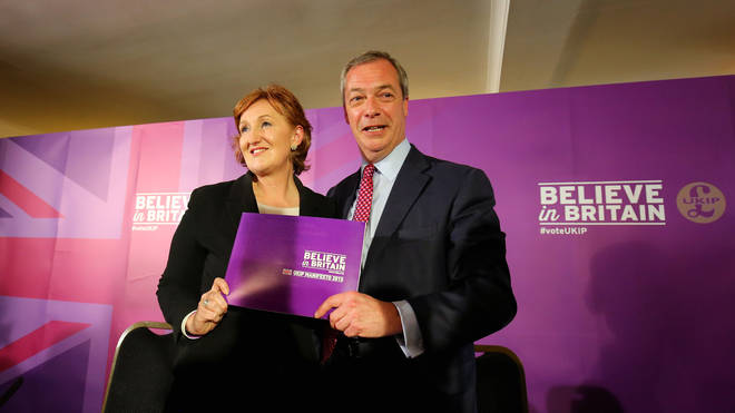 Ukip's former deputy chair announced she was leaving the party on Monday