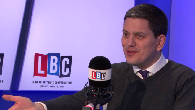 David Miliband spoke to Eddie Mair on Wednesday