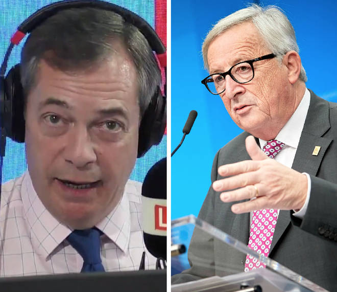 "Nigel Farage repeatedly asked the caller: ""Why do you want to be governed by Juncker?"""