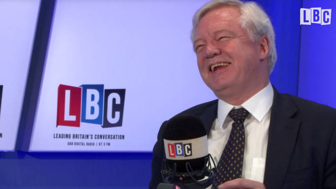 "David Davis laughs with Nick Ferrari as he says ""I don&squot;t have to be very clever to do my job."""