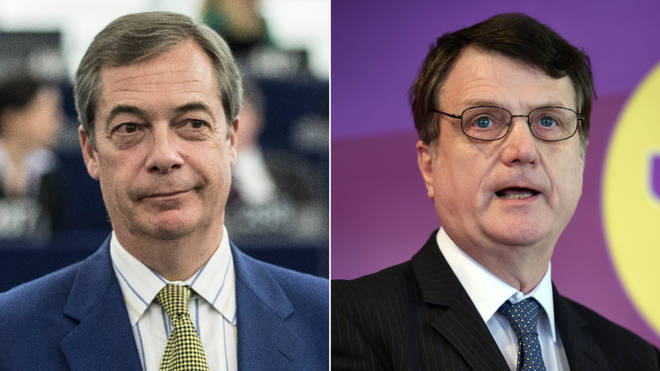 Nigel Farage and Gerard Batten