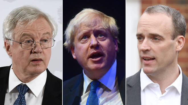 David Davis, Boris Johnson, and Dominic Raab are named as Jacob Rees-Mogg's top 3 choices for Prime Minister