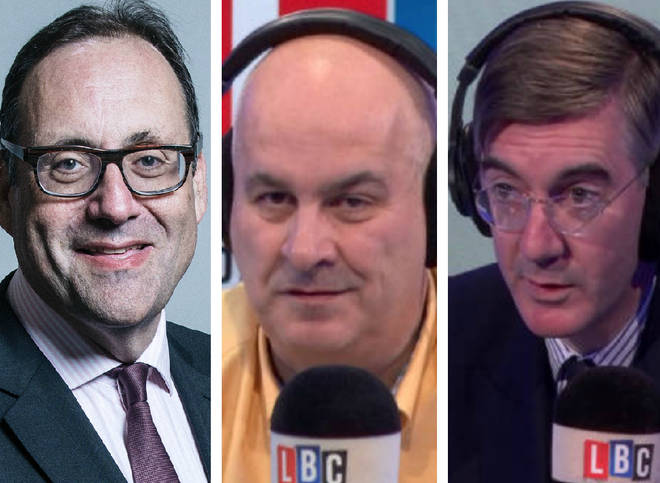 The business minister warned Jacob Rees-Mogg live on LBC