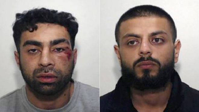 Reham Baluch (left) has been jailed for seven years. Saqib Kader was jailed for 12 months