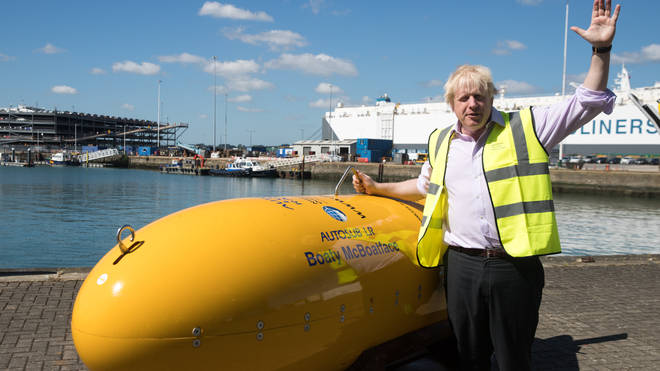 Boris Johnson poses with Boaty McBoatface